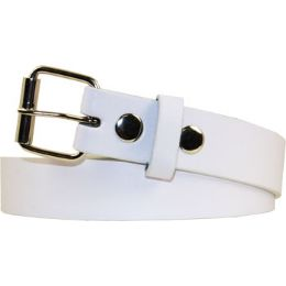 36 Units of Kids Belt In White - Unisex Fashion Belts
