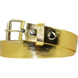36 Units of Kids Belt In Gold - Unisex Fashion Belts