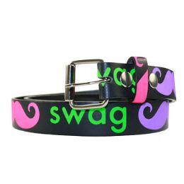 36 Units of Kids Swag Printed Belt - Unisex Fashion Belts