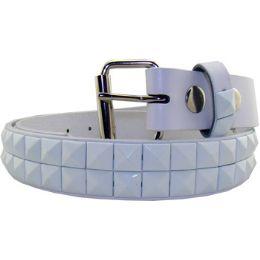 36 Units of Kids Studded Belts In White - Unisex Fashion Belts