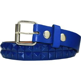 36 Units of Kids Studded Belts In Blue - Kid Belts