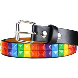 72 Units of Kids Studded Belts Colorful - Kid Belts