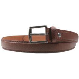 36 Units of Men Brown Fashion Belt Genuine Leather - Mens Belts