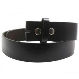 48 Units of Xxl Black Plain Belt - Mens Belts