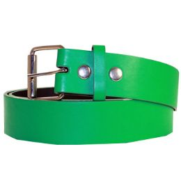 36 Units of Mixed Size Plain Belt Green - Belt Buckles