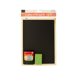 36 Units of Wooden Chalkboard Set - Chalk,Chalkboards,Crayons