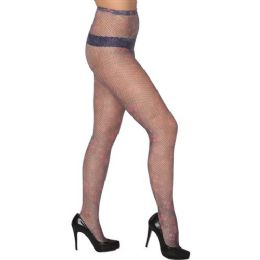36 Units of Women's Fishnet Floral Design Tights - Womens Pantyhose