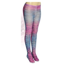 36 Units of One Size Only Ladies Rainbow Zebra Tights - Womens Pantyhose