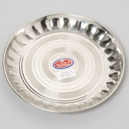 48 Units of 10 Inch Wide Stainless Steel Round Plate - Serving Trays