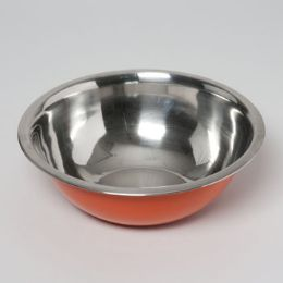 24 Units of 11d X 4h Stainless Steel Deep Mixing Bowl - Baking Supplies