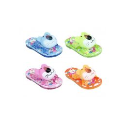 60 Units of Girls Printed Slipper Assorted Colors - Girls Slippers