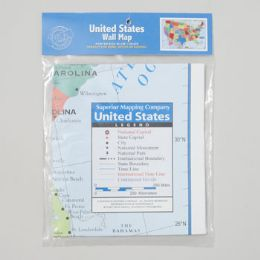 72 Units of 40x24 United States Wall Map - Classroom Learning Aids