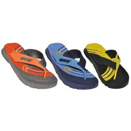 48 Units of Boys Sport Logo Summer Flip Flop - Boys Flip Flops & Sandals