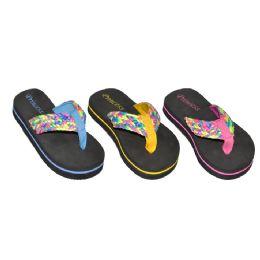 48 Units of Girls Multi Color Flip Flop - Girls Flip Flops