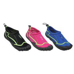 30 Units of Woman's Aqua Shoes With Footie - Women's Aqua Socks