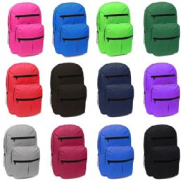 "24 Units of 18 Inch Backpack Many Pockets With Large Assortment Of Colors - Backpacks 18"" or Larger"