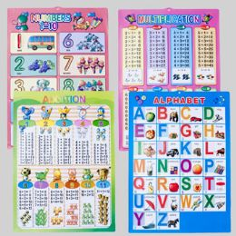 108 Units of Educational Molded Wall Plaque 4asst 23 X 16.5 Abc/math Styles - Educational Toys