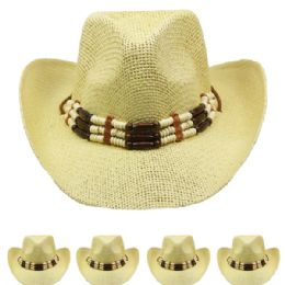 24 Units of Beaded Cowboy Hat - Cowboy & Boonie Hat
