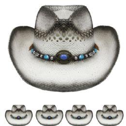 24 Units of Grey Colored Cowboy Hat - Cowboy & Boonie Hat