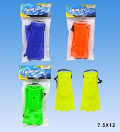 72 Units of Swimming Fins And Goggles In Poly Bag - Summer Toys