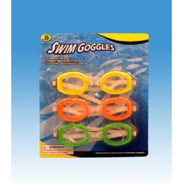 96 Units of 3pcs Goggles In Blister Card - Summer Toys