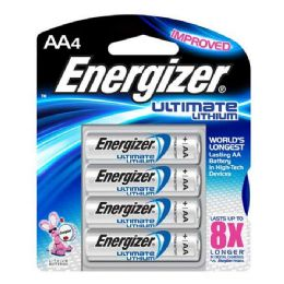 12 Units of Energizer Lithium AA-4 - Table Runner