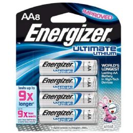 4 Units of Energizer Lithium AA-8 - Batteries