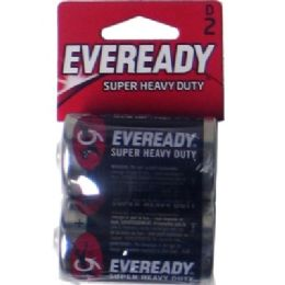 36 Units of Hv Duty D-2pk Carbon Zinc Eveready - Batteries