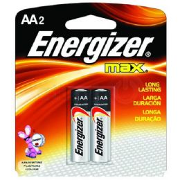 36 Units of ENERGIZER AA-2 E91B2 Alkaline card of 2 - Batteries