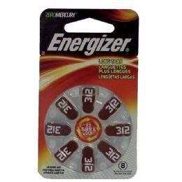 12 Units of ENERGIZER HEARINGaid Batteries AZ312-8 8pk - Batteries
