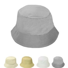 24 Units of Women' s Assorted Solid Color Bucket Sun Hat - Sun Hats