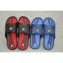 36 Units of Men's Two Tone Color Shower Beach Slipper - Men's Slippers