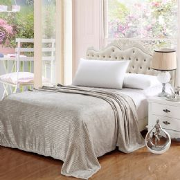 12 Units of 100% Polyester Blankets Grey Color - Blankets & Bedding
