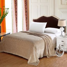 12 Units of 100% Polyester Blankets Tan Color - Blankets & Bedding