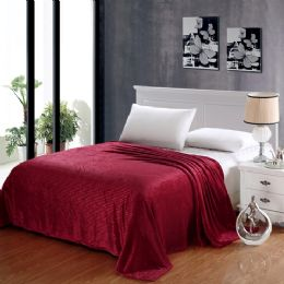 12 Units of 100% Polyester Blankets Red Color - Blankets & Bedding