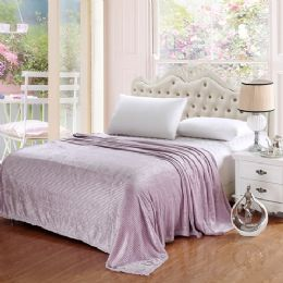 12 Units of The Collection 100% Polyester Full Size Blankets Lavender - Blankets & Bedding