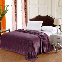 12 Units of The Collection 100% Polyester Full Size Blankets Purple - Blankets & Bedding