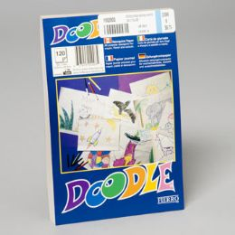 108 Units of Doodle Pads 6x9 Inch White 120 Ct Glued