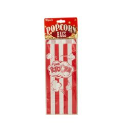 72 Units of Striped Paper Popcorn Bags - Bags Of All Types
