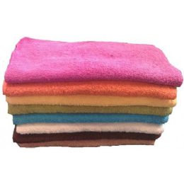 288 Units of 12x12 Heavy Fancy Wash Cloth 1.5lB- Asst Colors. - Towels