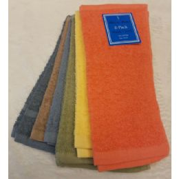 144 Units of 2 Pk 12x12 Heavy Solid Color Wash Cloth Assts 1.25lb S/o - Towels