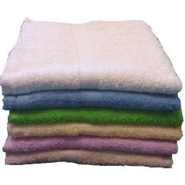 72 Units of 22x44 Solid Terry Bath Towel 6 Lb Assts - Towels