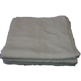 120 Units of 24x48 Terry White Bath Towel 8.0 Lbs Economy Towel - Towels