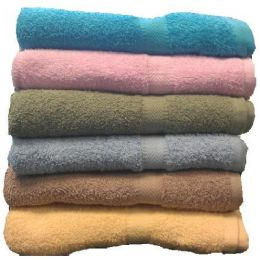 36 Units of 25x50 Solid Terry Bath Towel Assts 8.5lb - Towels