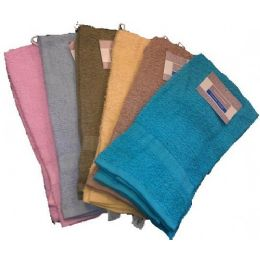 72 Units of 16x27 Heavy Terry Solid Hand ToweL- Assts - Towels