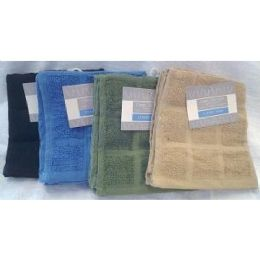 72 Units of 2 Pk 12x12 Heavy Yarn Dyed DishclotH-Solid - Towels