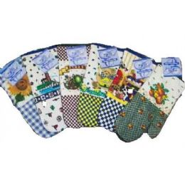"144 Units of 13"" Printed Oven Mitt - Assts Prints - Oven Mits & Pot Holders"