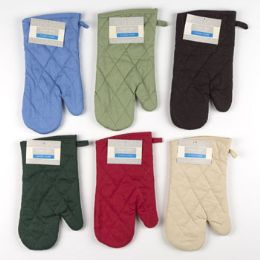 72 Units of 7x12 Solid Oven Mitt Woven - Oven Mits & Pot Holders