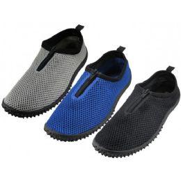 """36 Units of Men's Zipper """"wave"""" Water Shoes - Men's Aqua Socks"""