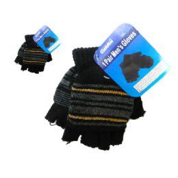 288 Units of Gloves Men 1pr 4asst Color - Knitted Stretch Gloves